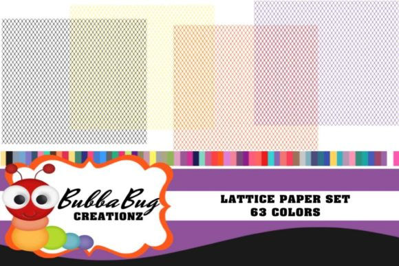 Lattice Paper Set Graphic Patterns By BUBBABUG
