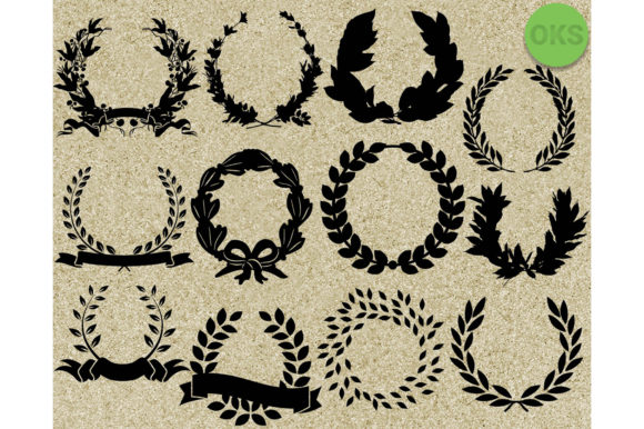 Download Free Laurel Wreath Graphic By Crafteroks Creative Fabrica for Cricut Explore, Silhouette and other cutting machines.