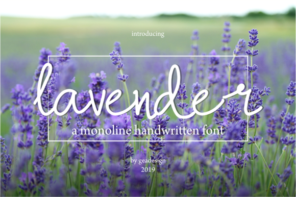 Print on Demand: Lavender Script & Handwritten Font By geadesign