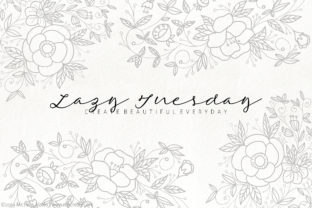 Lazy Tuesday Script Font By Michelle Alzola