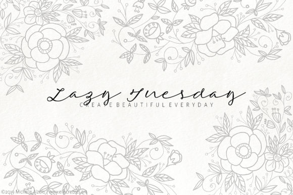 Print on Demand: Lazy Tuesday Script Script & Handwritten Font By Michelle Alzola - Image 1