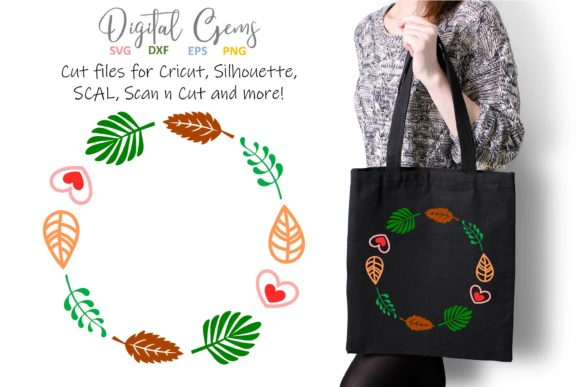 Download Free Leaf Wreath Svg Graphic By Digital Gems Creative Fabrica for Cricut Explore, Silhouette and other cutting machines.
