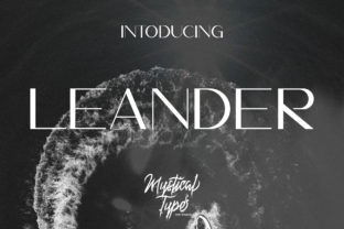Leander Font By MysticalType