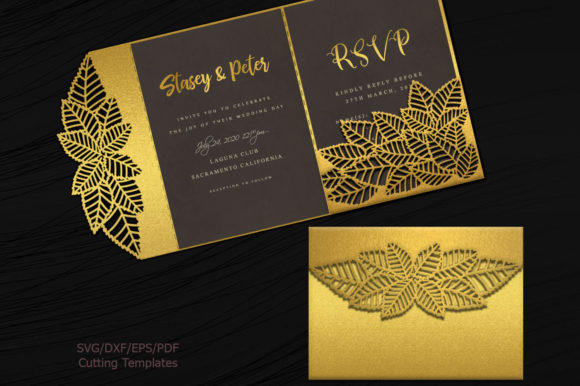 Leaves Pocket Envelope Svg Graphic Crafts By Cornelia - Image 2