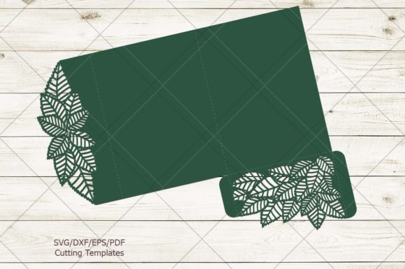 Leaves Pocket Envelope Svg Graphic Crafts By Cornelia - Image 3