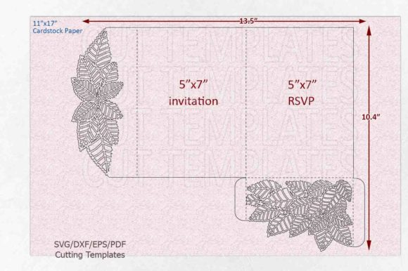 Leaves Pocket Envelope Svg Graphic Crafts By Cornelia - Image 4