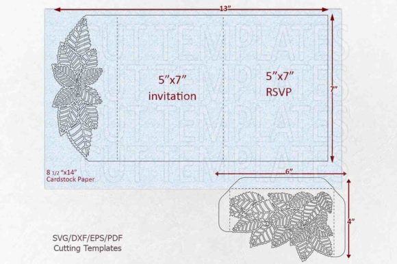 Leaves Pocket Envelope Svg Graphic Crafts By Cornelia - Image 5