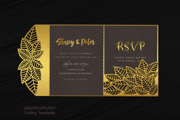 Leaves Pocket Envelope Svg Graphic Crafts By Cornelia - Image 1