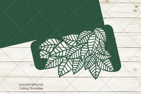 Leaves Pocket Envelope Svg Graphic Crafts By Cornelia - Image 7