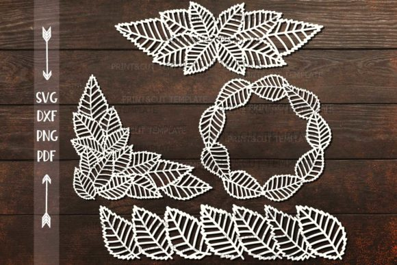 Leaves Graphic Crafts By Cornelia