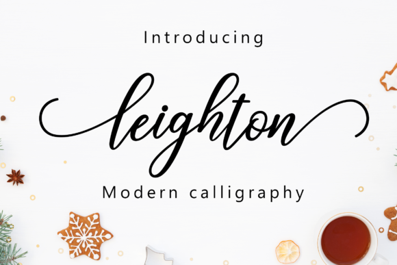 Leighton Font By Amarlettering Image 1