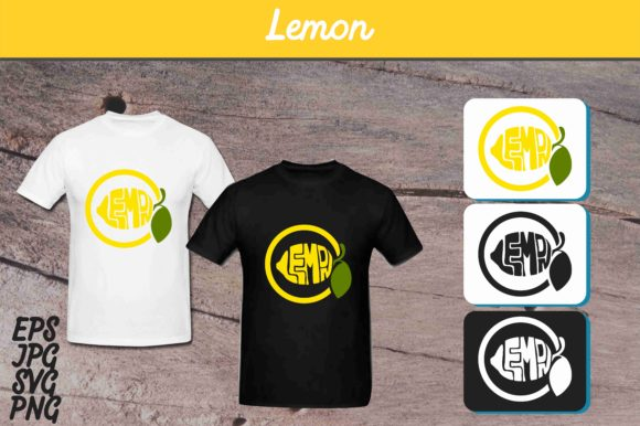 Print on Demand: Lemon SVG Vector Image - T Shirt Design Graphic Crafts By Arief Sapta Adjie