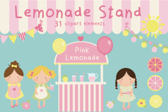 Download Free Lemonade Stand Graphic By Poppymoondesign Creative Fabrica for Cricut Explore, Silhouette and other cutting machines.