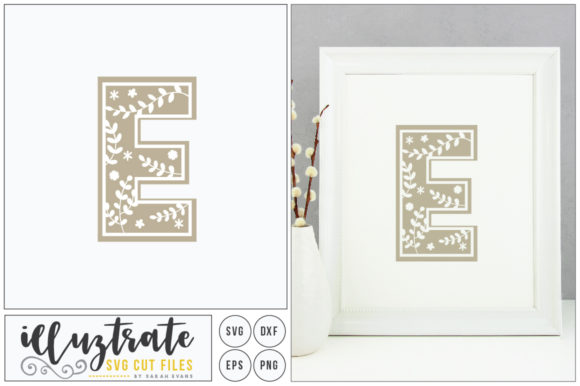 Print on Demand: Letter E Alphabet Graphic Crafts By illuztrate - Image 1