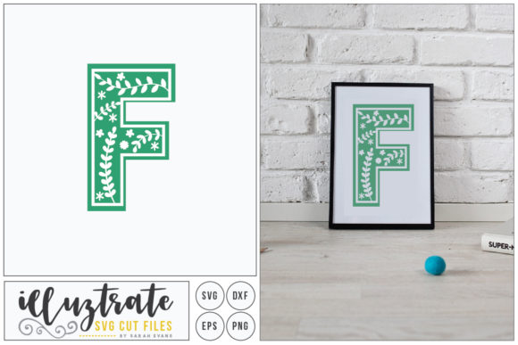 Print on Demand: Letter F SVG Alphabet Graphic Crafts By illuztrate - Image 1