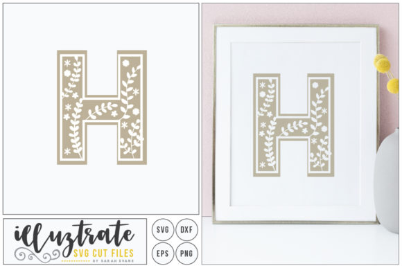 Download Free Letter H Svg Alphabet Graphic By Illuztrate Creative Fabrica for Cricut Explore, Silhouette and other cutting machines.