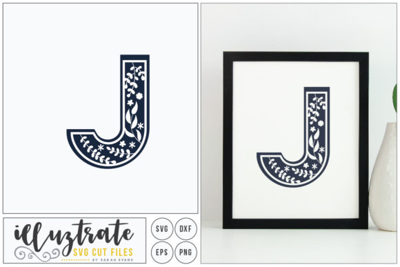 Download Free Letter J Svg Alphabet Graphic By Illuztrate Creative Fabrica for Cricut Explore, Silhouette and other cutting machines.
