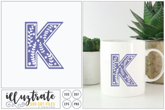 Download Free Letter K Svg Alphabet Graphic By Illuztrate Creative Fabrica for Cricut Explore, Silhouette and other cutting machines.