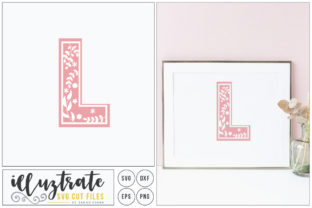 Download Free Letter L Svg Alphabet Graphic By Illuztrate Creative Fabrica for Cricut Explore, Silhouette and other cutting machines.