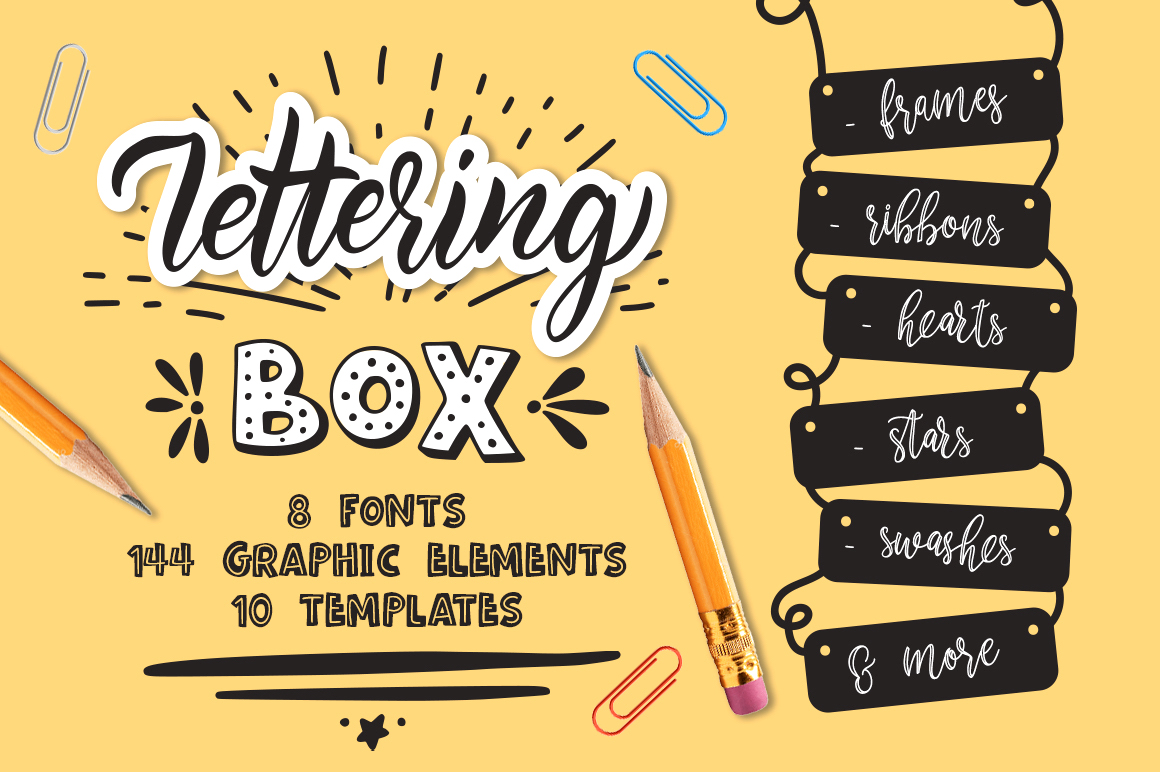Download Free Lettering Box Font By Red Ink Creative Fabrica for Cricut Explore, Silhouette and other cutting machines.