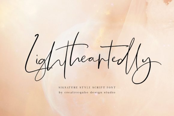 Lightheartedly Script & Handwritten Font By Creativeqube Design