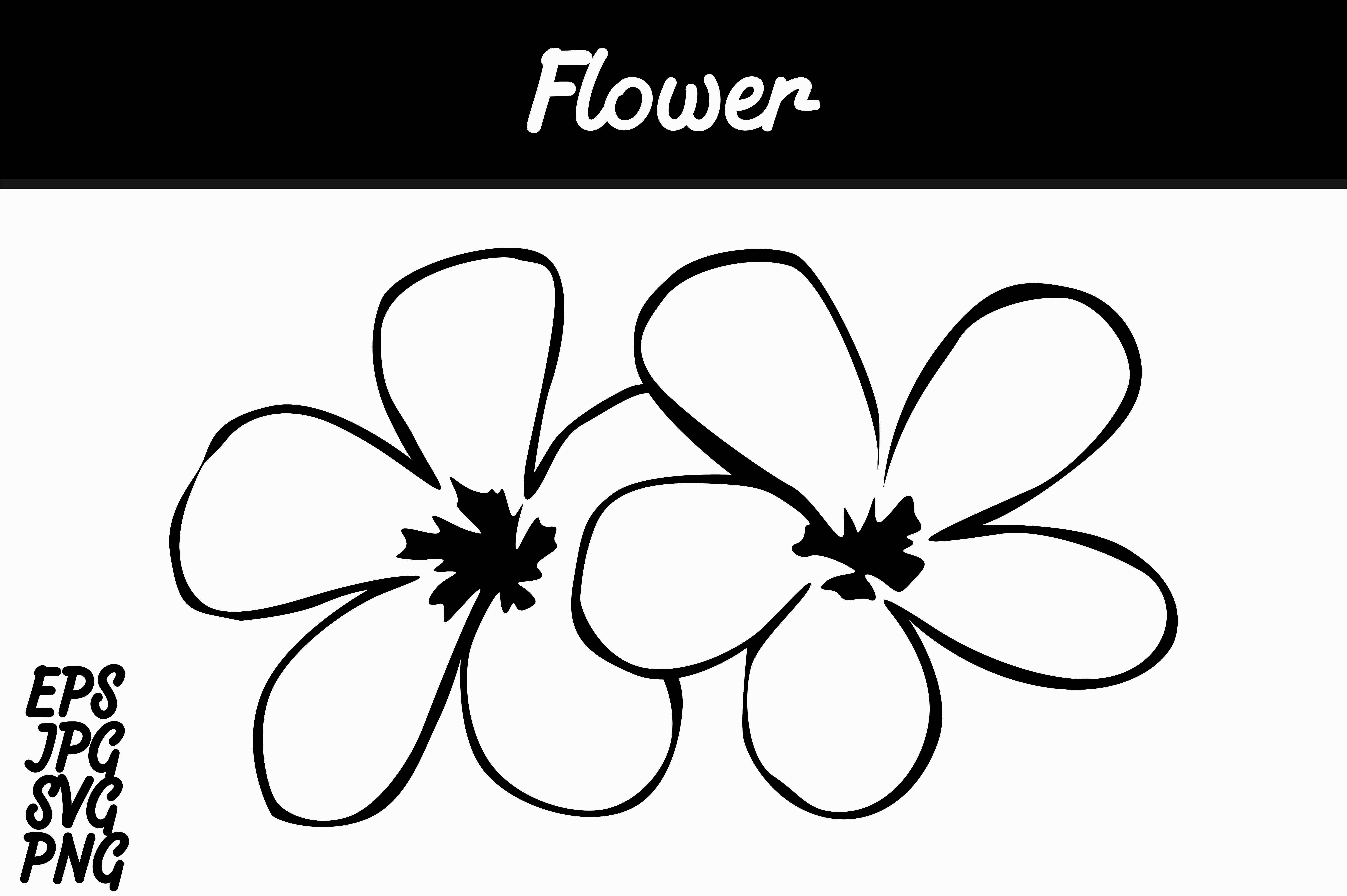 Download Free Line Art Flower Svg Vector Image Graphic By Arief Sapta Adjie for Cricut Explore, Silhouette and other cutting machines.