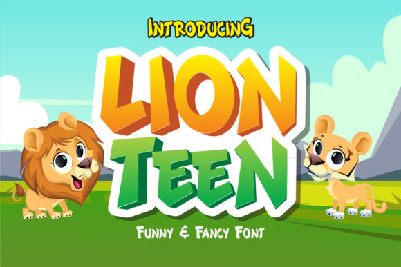 Print on Demand: Lion Teen Display Font By fachranheit - Image 1