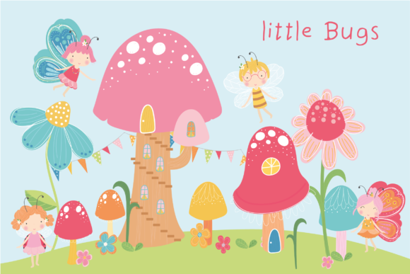 Print on Demand: Little Bugs Graphic Illustrations By poppymoondesign