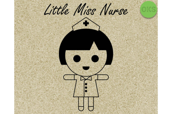 Download Free Little Miss Nurse Svg Graphic By Crafteroks Creative Fabrica for Cricut Explore, Silhouette and other cutting machines.