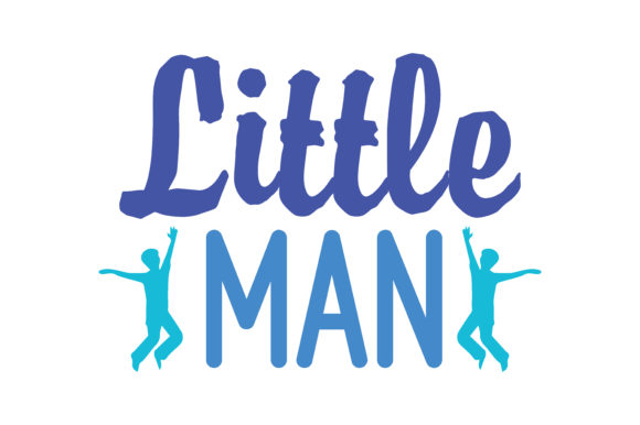 Print on Demand: Little Man Quote SVG Cut Graphic Crafts By TheLucky