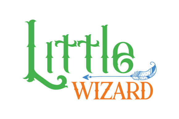 Print on Demand: Little Wizard Quote SVG Cut Graphic Crafts By TheLucky