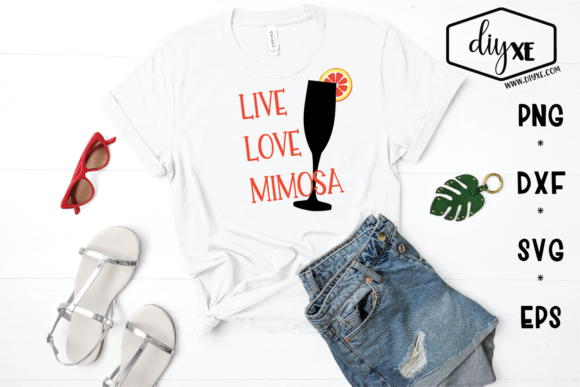Download Free Live Love Mimosa Svg Graphic By Sheryl Holst Creative Fabrica for Cricut Explore, Silhouette and other cutting machines.
