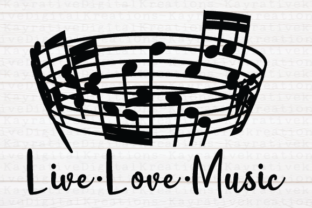 Download Free Live Love Music Svg Music Svg Graphic By Kayla Griffin for Cricut Explore, Silhouette and other cutting machines.