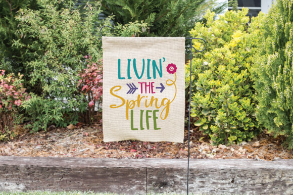 Livin' the Spring Life SVG Cut File Spring Graphic By oldmarketdesigns Image 2