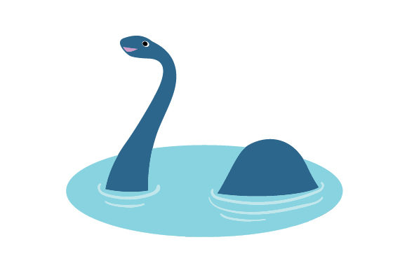 Loch Ness Monster Cartoon Scotland Craft Cut File By Creative Fabrica Crafts - Image 1