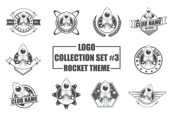 Print on Demand: Logo Collection - Rocket Theme Grafik Logos von azkaryzki