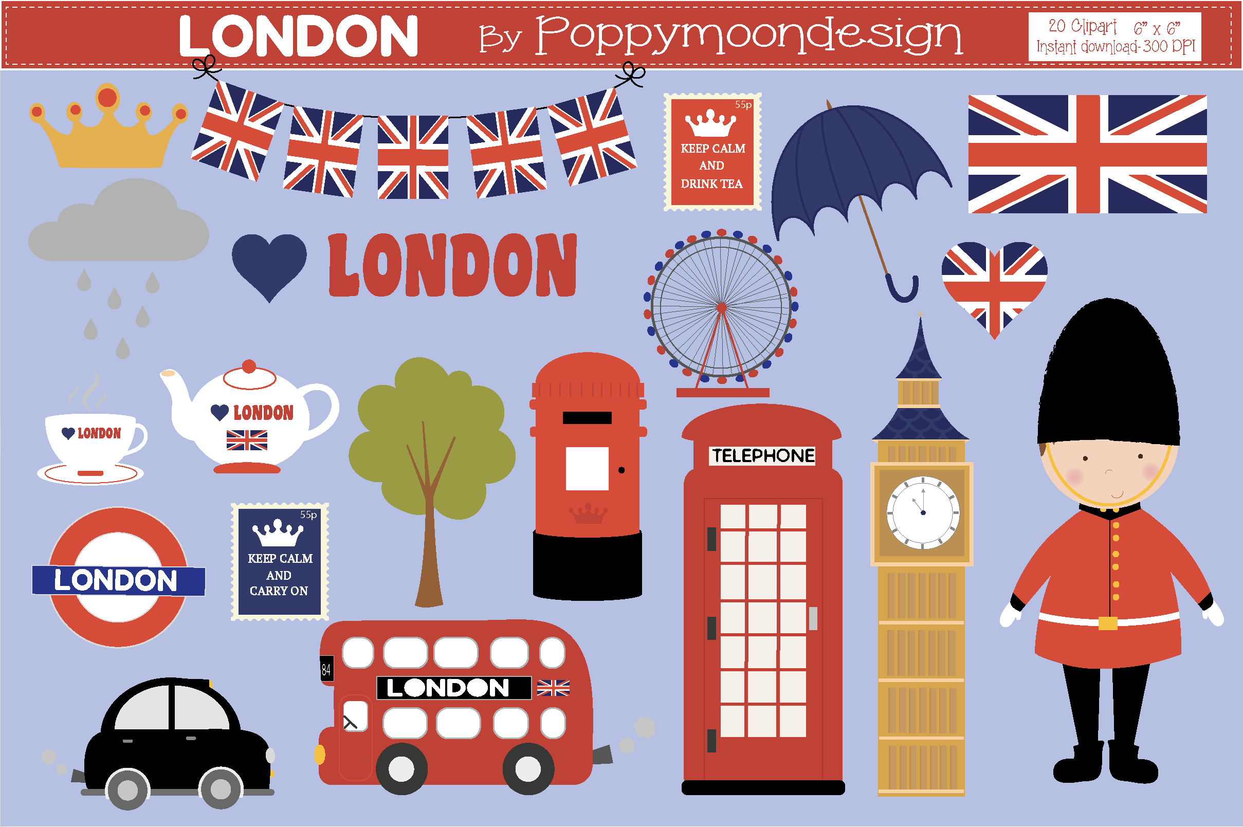 Download Free London Graphic By Poppymoondesign Creative Fabrica for Cricut Explore, Silhouette and other cutting machines.
