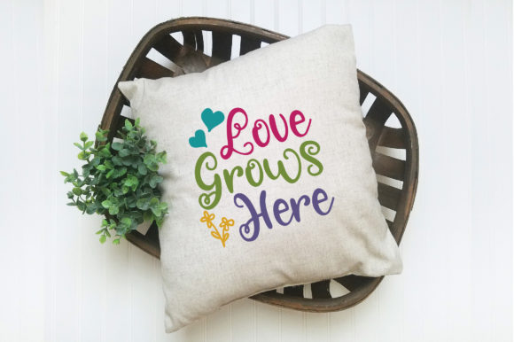 Love Grows Here SVG Cut File Spring SVG Graphic By oldmarketdesigns Image 5