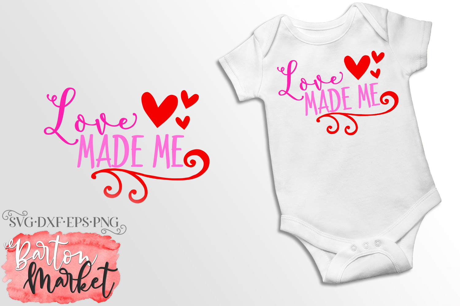 Download Free Love Made Me Svg Graphic By Barton Market Creative Fabrica for Cricut Explore, Silhouette and other cutting machines.