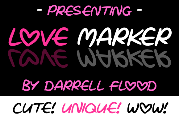 Print on Demand: Love Marker Script & Handwritten Font By Dadiomouse