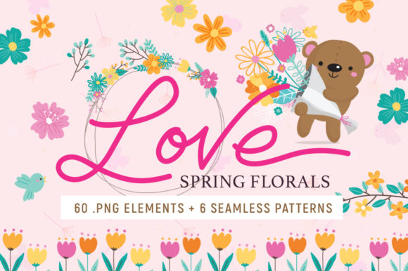 Print on Demand: Love Spring Florals Graphic Illustrations By Reg Silva Art Shop
