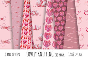 Lovely Knitting Digital Papers Graphic Patterns By ramandu