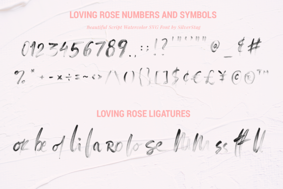 Print on Demand: Loving Rose Color Fonts Font By SilverStag - Image 11