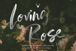 Print on Demand: Loving Rose Color Fonts Font By SilverStag