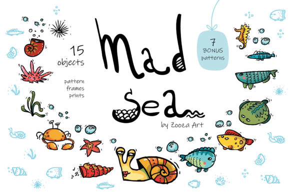 Print on Demand: Mad Sea Collection Graphic Objects By Zooza Art