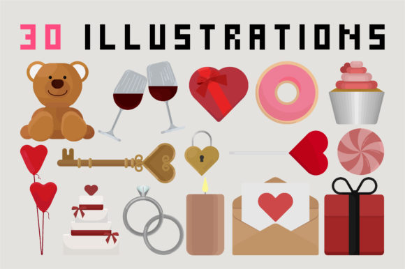 Print on Demand: Mad About U - Valentines Day Set Graphic Illustrations By arausidp - Image 2