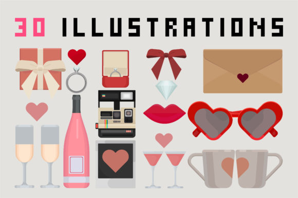 Print on Demand: Mad About U - Valentines Day Set Graphic Illustrations By arausidp - Image 3