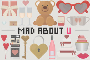 Print on Demand: Mad About U - Valentines Day Set Graphic Illustrations By arausidp