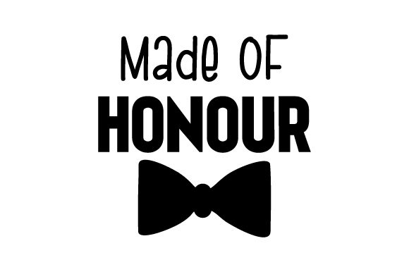 Made of Honour Craft Design By Creative Fabrica Crafts