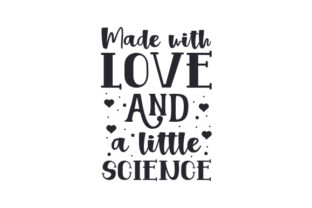 Made with Love and a Little Science Craft Design Por Creative Fabrica Crafts